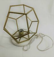 """PROJECT 62 12"""" Tall Table Lamp NW/oT Geometric w/ Marble Accent Brass Finish"""