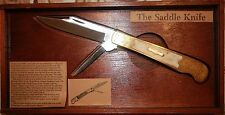 PARKER CUT CO. THE SADDLE KNIFE never been used SN:392 G.W Jones 1851