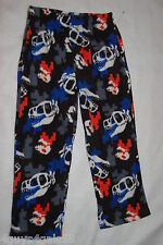 Boys Pajamas Pants FLEECE Pixelated Look DINOSAUR & SKULL Sleep Lounge M 8-10