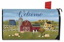 Spring Countryside Welcome Magnetic Mailbox Cover Primitive