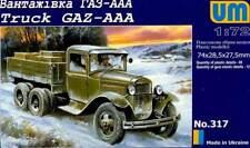 DEL GAZ-AAA RUSSO Autocarro Camion Cassone Trasportatore modello KIT 1:72 kit