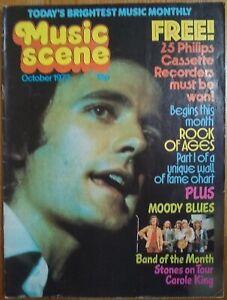 Music Scene Magazine Oct '73 - Gilbert O'Sullivan Rolling Stones Black Sabbath