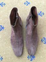Prada Men Shoes Brown Suede Chelsea Dealer Boots UK 10 US 11 EU 44