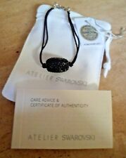 ATELIER SWAROVSKI United Nations JET BLACK Crystal Bracelet BNWT rrp £69.00 Rare