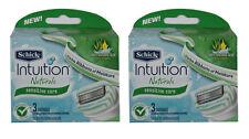 New Schick Intuition Naturals Sensitive Care Blades 2 x 3 = 6 Cartridges Refills