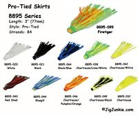 Pro-Tied Silicone Skirts for Hula Poppers, Spinners, Buzzbaits, or Jigs