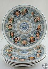 Wedgwood Decorative Collector Calendar Plate 2000 Millennium Art & Music SET 5