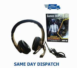 Stereo Gaming Headset Mic Headphones for PC Laptop PS4 Slim Pro Xbox One Wired
