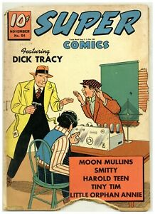 Super Comics 54 Dick Tracy Little Orphan Annie 1942 Golden Age Dell (j#2908)