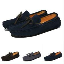 Mens Bowknot Suede Slip On Loafers Casual Moccasins Driving Square Toe Shoes Hot