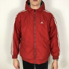 Vintage Adidas Men's Small Red/Grey Reversible Lined Windbreaker Coat Jacket