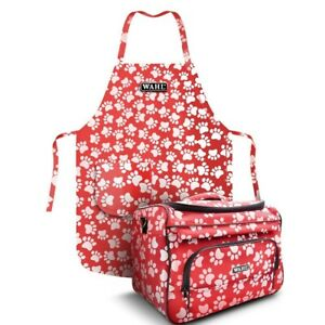 Wahl Paw Print Grooming Bag & Apron combo - Red