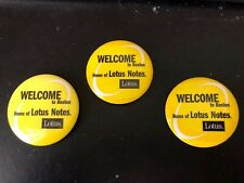 Welcome To Boston - Home of Lotus Notes - 3 Collector Pins