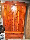Vtg 2 Door Red Cedar Storage Clothes Closet Wardrobe Armoire