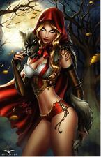 GFT SEXY ROBIN HOOD ART PRINT SIGNED BY DAWN McTEIGUE  - NEW