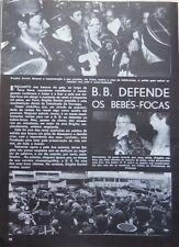 BRIGITTE BARDOT: COUPURE DE PRESSE en portugais 1 page 1976/ PORTUGUESE CLIPPING