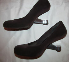 UN UNITED NUDE EAMZ metal heel mid century flocked velvet feel shoes 39 8 - 8.5