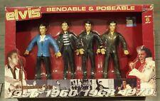 Rear ELVIS PRESLEY Vintage Figures Set Bendable Poseable Elvis Collector Fans