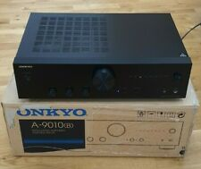Onkyo A-9010 UK Integrated Stereo Amplifier - Black - Free  P & P