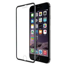 iPhone 6 Tough Tempered Glass Screen Protector Full Edge Curved Titanium - Black