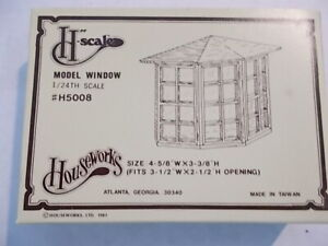 Dollhouse 1:24 Half Scale Bay Window Assembled NLIP