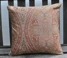 "NEW 16"" reversible zipped cushion Ottoman paisley maroon, gold woven"
