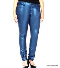TORRID Galaxy BLUE Metallic Jeggings Jeans 26 4X Skinny Leg Stretchy Shiny BLING