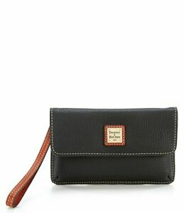 Dooney & Bourke Pebble Collection Milly Colorblock Wristlet Wallet Leather New