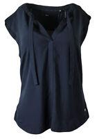 Zero Damen BLUSE Shirt mit V- Ausschnitt und kurzen Ärmeln Shirtbluse Top