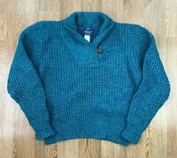 Vintage WOOLRICH Womens Wool Blend Sweater | Knit Jumper Cable | Medium M Green