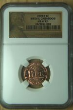 2009 D US MINT CENT BIRTH AND CHILDHOOD NGC MS67 RD LINCOLN LABEL