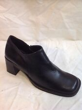 Aldo Black Ankle Leather Boots Size 38