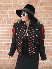 Red & Black w/Fringe Cavelry/Native American Look Jkt DoubleD Ranchwear M
