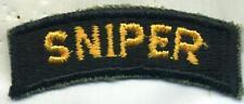 Vietnam Era US Army Sniper Tab Patch Cut Edge