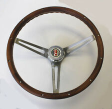 "64 65 66 Olds 442 F85 Cutlass 98 Wood Steering Wheel walnut 15"" stainless spokes"