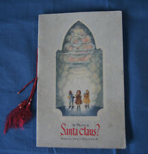 Is There A Santa Claus? booklet Francis Pharcellus Church Christmas 1940's FS