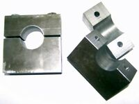 """4-Pack 1.50"""" Jig Fixture Tubing Clamps with 1/4""""-20tpi Fasteners"""