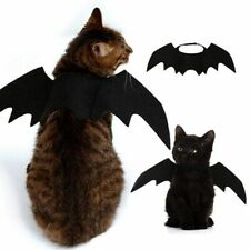 Cat Costume Halloween Pet Size Dress Cosplay Bat Party Cute Accessories Wings