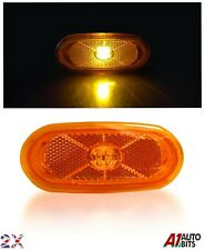 2x Amber Side Marker 4 Leds Lights Led Lamps For Mercedes Sprinter / Vw Crafter