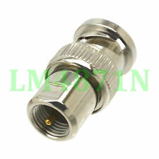 1pce Adapter FME plug male to BNC male RF connector straight M/M