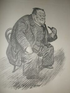 Vintage Print Low New Statesman 1926 Hilaire Beloc writer historian