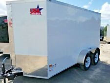 6'x12' Enclosed Trailer Cargo Tandem 10 Motorcycle ATV Utility 14 Box Ramp New