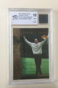 2001 Upper Deck Tiger Woods Tiger's Tales BCCG Mint 10 #TT19 RARE WORN SHIRT