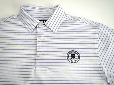 FootJoy FJ Rare Polo Golf Shirt Mens Sz L Charlie Goelz League 2013 Polyester