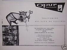 PUBLICITÉ 1958 PISCINES OPUR TRAITEMENT DES EAUX PISCINES -  ETS.DEGREMONT PARIS