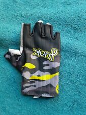 Half Finger Cycling / Skating Gloves  - New - Black and Yellow - Junk brand