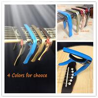Haze DC-05 Premium Acoustic/Electric Guitar Capo, Pin-puller,Paint Blue 3 Picks