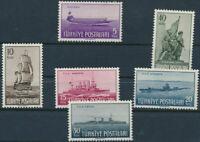 TURKEY / 1949 - NAVY DAY COMPLETE SET (Ship, Naval, Submarine), MNH OG