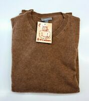 PULL TAILLE M SWEATER HOMME 100% PUR CASHMERE CACHEMIRE APT 9 BRAUN