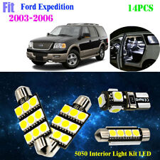 14Pcs 5050 Cool White 6000K Interior Light Kit LED Fit 2003-2006 Ford Expedition